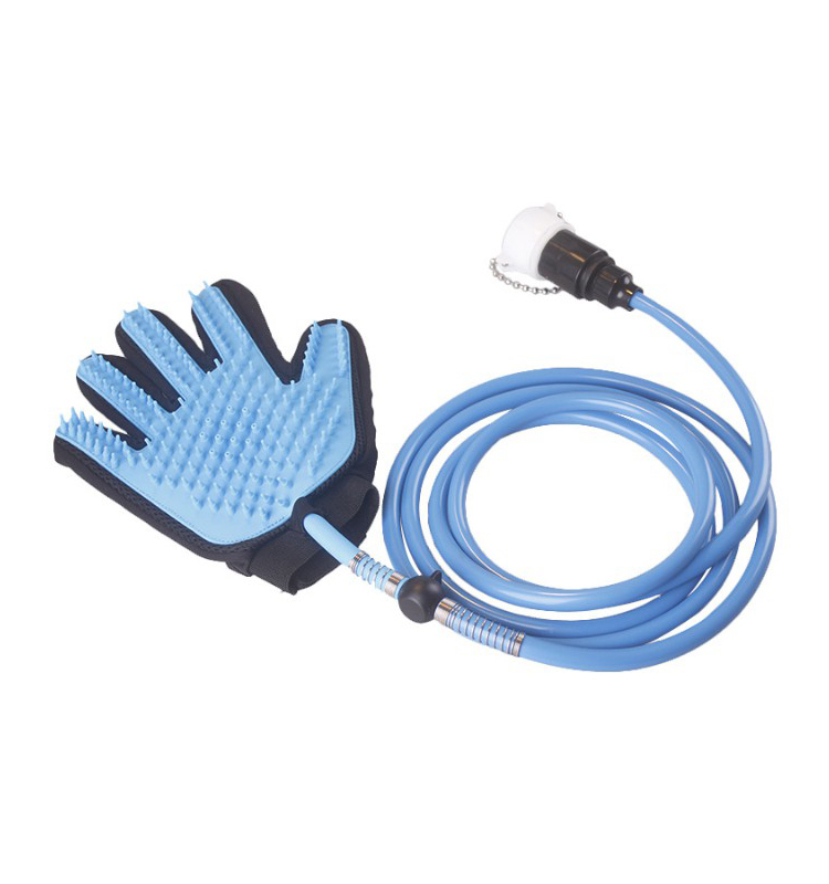 Cool Pet Grooming Gloves Silicone Massage Cleaning Brush Glove