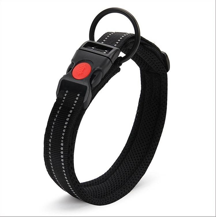 Adjustable soft nylon pet dog collar outdoor