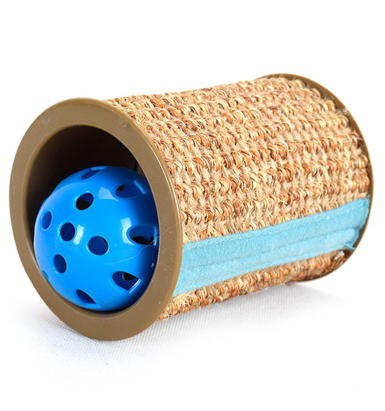 cylindrical cat scratch roller sisal scratch post