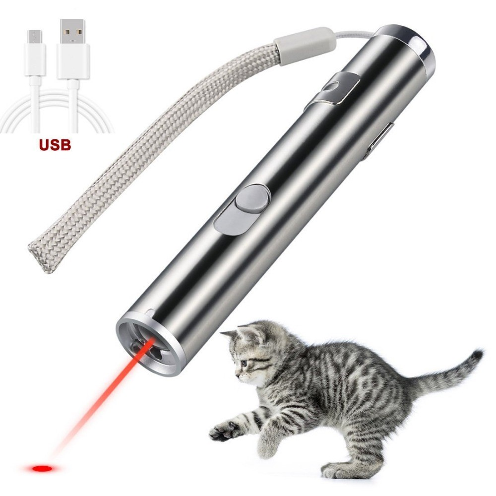 Cat Chaser Laser Pointer Toy Safe Pet Toys Small Red Light