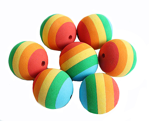 Colorful Pet Dog Toy Customize Rainbow Play Balls Golf  Soft Eva Foam Practice pet ball toys