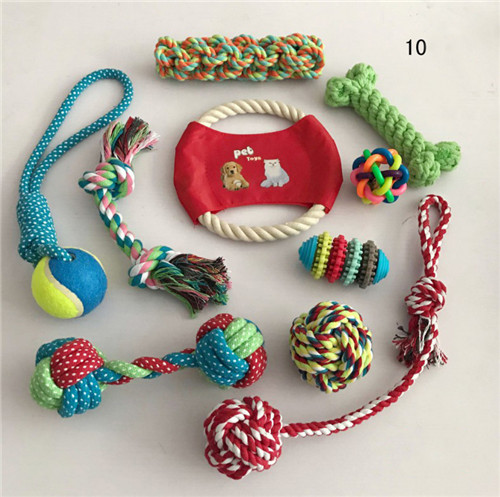 bulk dog toys 10-pack dog rope chew toy set assorted dog toys