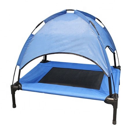 Durable Foldable Outdoor Metal Frame Elevated Cooling Dog Bed