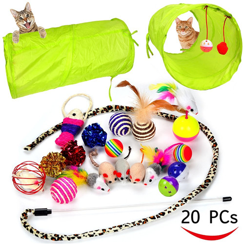 group pack 20 Set Cat Toy Kitten Toys teaser wand 20pcs set cat toys