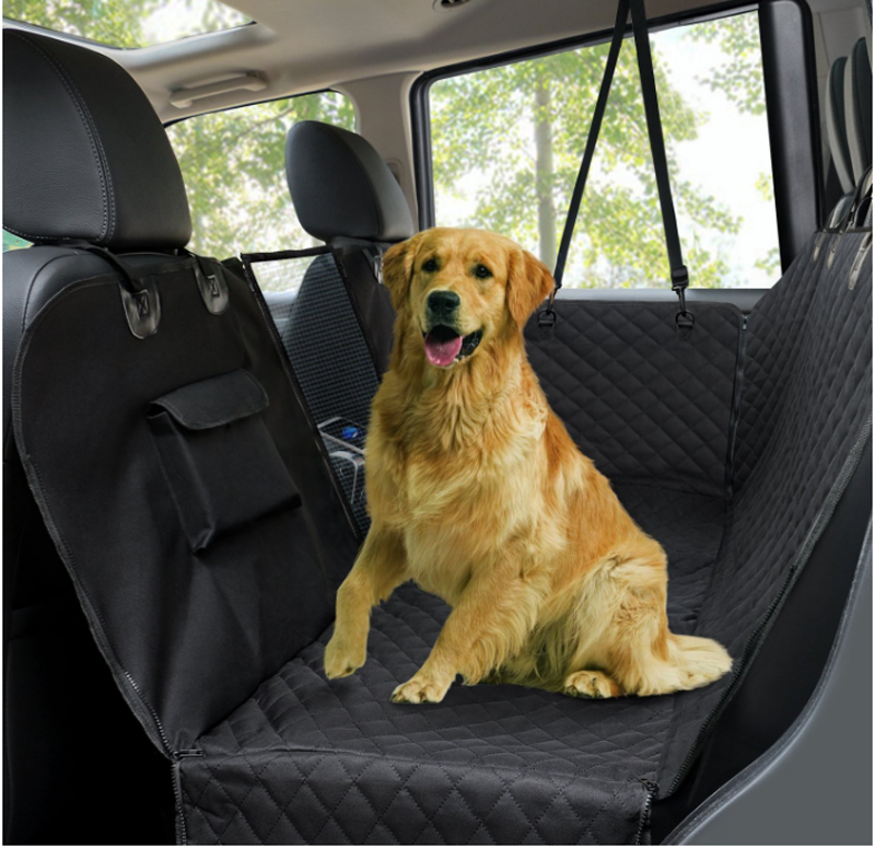 Pet Car Back Seat Hammock Dog Seat Cover With Mesh Window and Zipper
