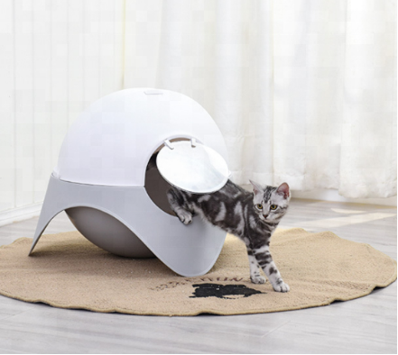 New Design Space cabin Cat Clean Up Products Plastic Cat litter box