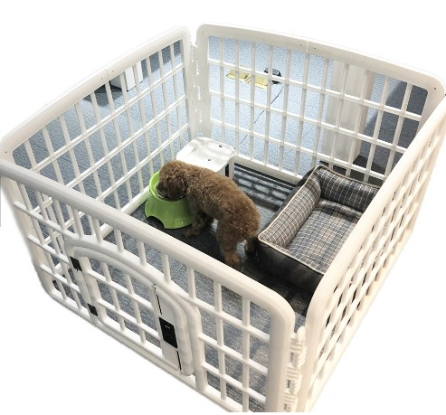 Classic Double Lock 4-Panel Dog Playpen Plastic Folding Pet Cage