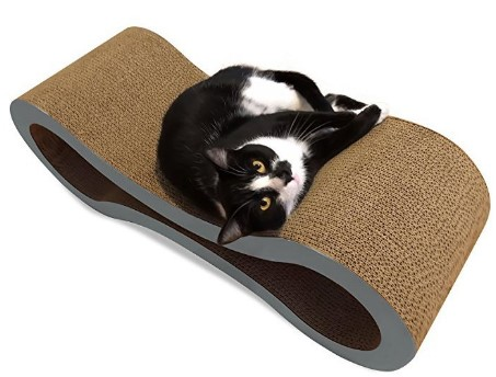 Wholesale 8 Shaped Cardboard Cat Scratcher Lounge with Catnip