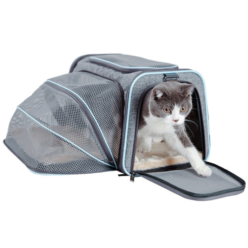 Wholesale Pet Products Dog Cat Travel Outside Carry Cage Mesh Cat Carrier Bag