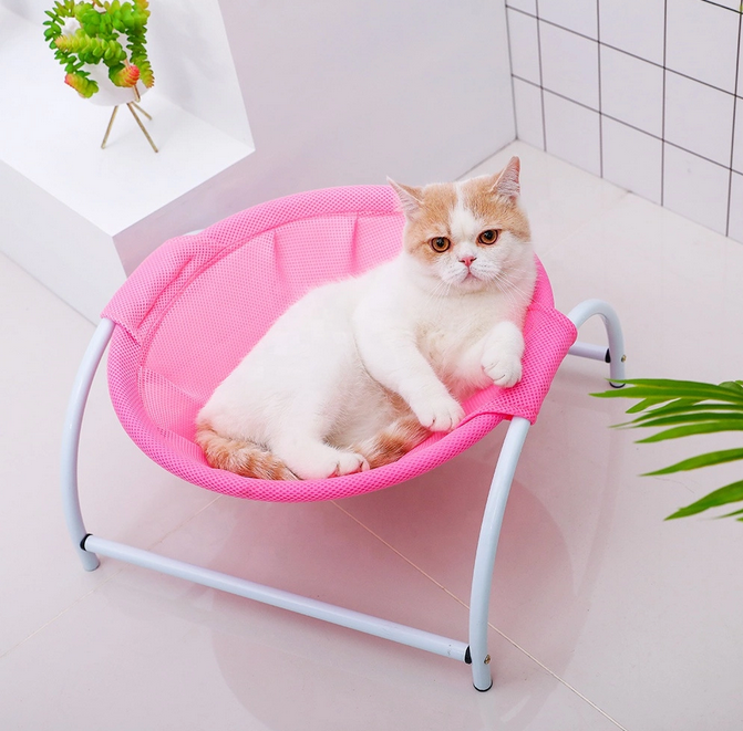 2019 Manufacture Cat Furniture Hanging Seat Elevated Metal Cat Bed Cat Hammock Chair